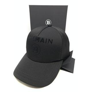 バルマン(BALMAIN)の新品 SS20 BALMAIN ブラックロゴ キャップ バルマン(キャップ)