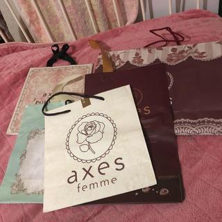 アクシーズファム(axes femme)のaxes femme ショップ袋 5種(ショップ袋)