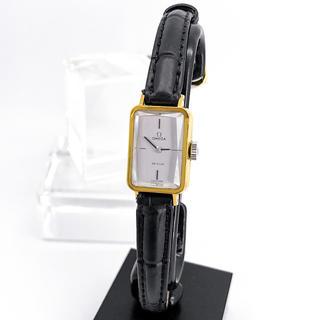 OMEGA - 【OH済/仕上済】オメガ デビル カットガラス ゴールド レディース 腕時計