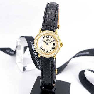 Cartier - 【仕上済】カルティエ ロンド SM ゴールド ダイヤ レディース 腕時計