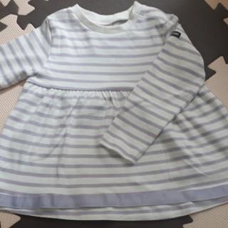 petit main - プティマイン     ボーダーTシャツ100
