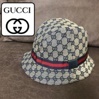 Gucci - 美品♡GUCCI グッチ ハット 帽子  内側カシミヤ GG柄