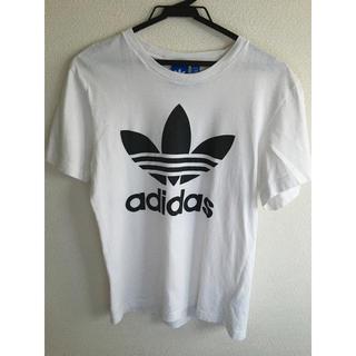 adidas - アディダスオリジナルス Tシャツ ロゴTシャツ 白 白くT