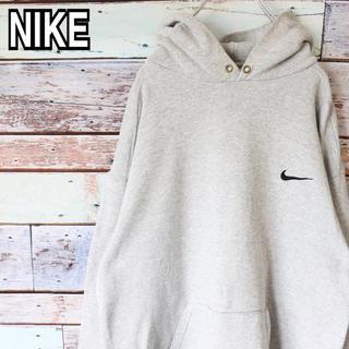 NIKE - ナイキ 90s 白タグ オーバーサイズ 刺繍ロゴ スウェット パーカー M