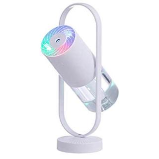 加湿器 空気清浄機 卓上アロマ 超音波式 USB給電 七色LEDライト