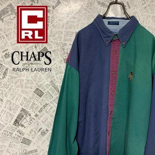 ラルフローレン(Ralph Lauren)の90s チャップスラルフローレン BDシャツ クレイジーパターン ビッグサイズ(シャツ)