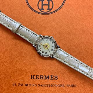 Hermes - 美品 HERMES エルメス セリエ レディース腕時計 クォーツ ベージュレザー