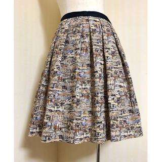 Lois CRAYON - パルチザン ✽ アンティーク街並み柄フレアスカート ✽ 日本製
