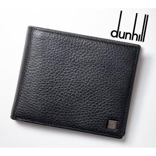 ダンヒル(Dunhill)の【極美品!】dunhill(ダンヒル)  レザー2つ折り財布 ブラック!(折り財布)