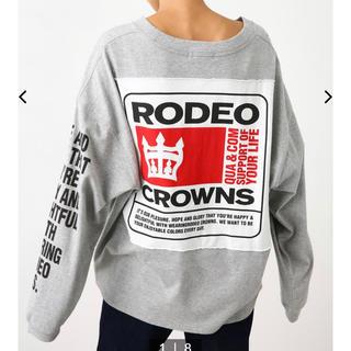 RODEO CROWNS WIDE BOWL - ロデオ★BIG PATCH ロングスリーブTシャツ/グレー
