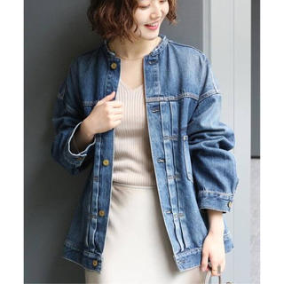 IENA - 新品☆ リメイクルーズデニムブルゾン  38