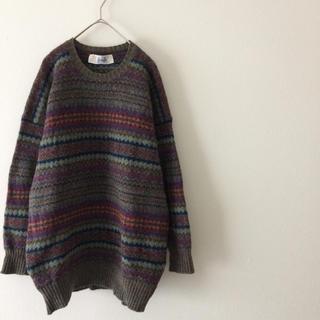wool Knit 菅田将暉 vintage England(ニット/セーター)