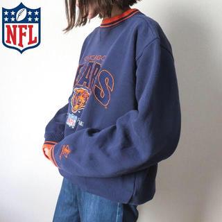 Santa Monica - 90s NFL 刺繍ロゴ スウェット トレーナー ネイビー 古着女子
