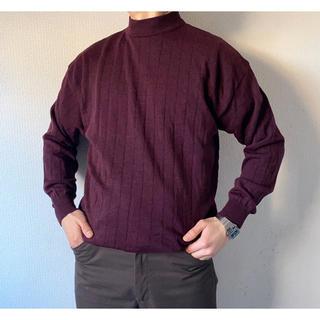 ヨウジヤマモト(Yohji Yamamoto)のvintage ヴィンテージ イタリア製 パープル モックネック ニットセーター(ニット/セーター)