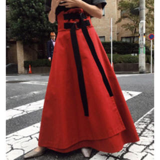 アメリヴィンテージ(Ameri VINTAGE)のAmeri VINTAGE DOUBLE TAPE BELT SKIRT(ロングスカート)
