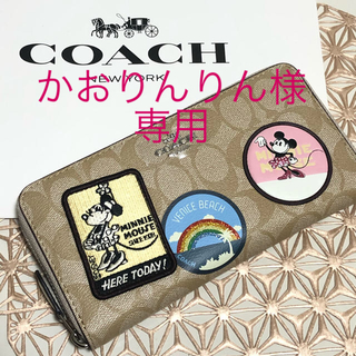 COACH - 【新品】COACH コーチ/長財布 未使用  ブラック ミニー ディズニー