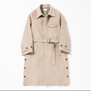 Side slit balmacaan coat(Ivory)