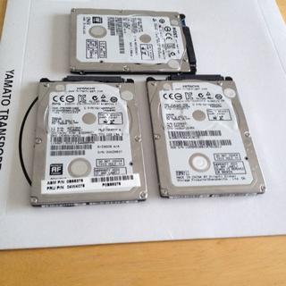 ヒタチ(日立)のHGST 2.5インチ 7mm厚 SATA 薄型HDD 3台(PCパーツ)