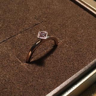 アガット(agete)のagete k10 天然石リング(リング(指輪))