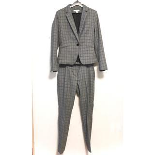 エイチアンドエム(H&M)のH&M グレーチェック パンツスーツ(スーツ)