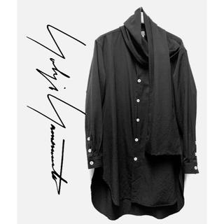 Yohji Yamamoto - ヨウジヤマモト 19AW ギャバストールシャツ サイズ2