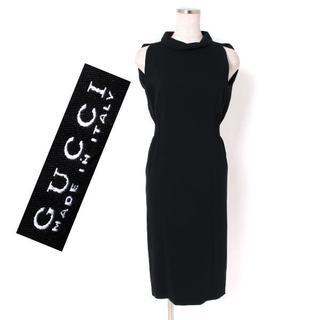 Gucci - GUCCI ノースリーブドレス ワンピース size36 ブラック グッチ