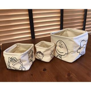 スヌーピー(SNOOPY)のSNOOPY &フレンズの収納BOX 3点セット❣️(ケース/ボックス)