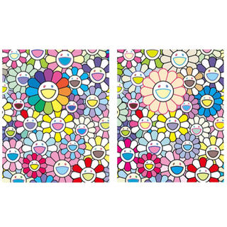 本物国内正規品 村上隆 kaikaikiki 希望の花&お花畑 100枚限定版画