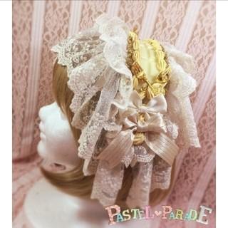 Angelic Pretty - パステルパレード 板チョコレートヘッドドレス リッチミルク