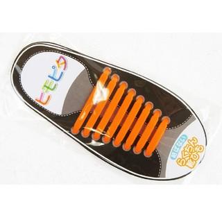★破格★ヒモピタ 靴紐 結ばない靴紐 オレンジ(シューズ)