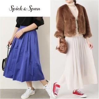 Spick and Span - 2点♥️約4万円【スピックアンドスパン】ファーコート×サテンタックフレアスカート