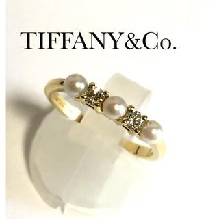 ティファニー TIFFANY ダイヤ パール K18YG リング エタニティ(リング(指輪))