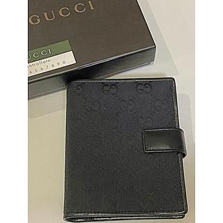 Gucci - ☆未使用品☆ グッチ GGキャンバス 手帳 5つ穴 レフィル付き