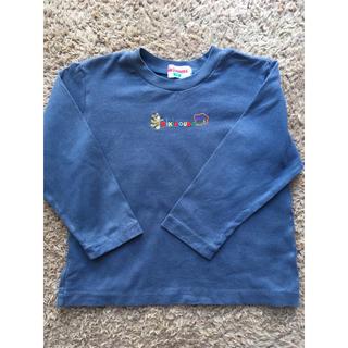 mikihouse - ミキハウスの 紺色で合わせやすいシンプルなロングTシャツ