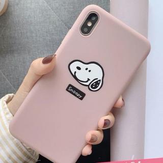 【新品】iPhoneケース  スヌーピー ピンク