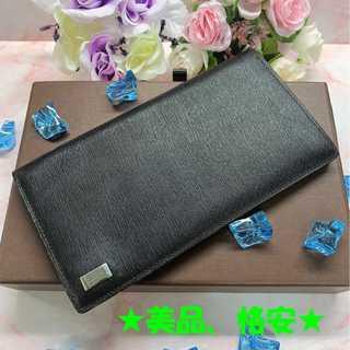 ダンヒル(Dunhill)の★セール★ 【ダンヒル】カード入れ お札入れ 二つ折り 黒 美品 レディース (財布)