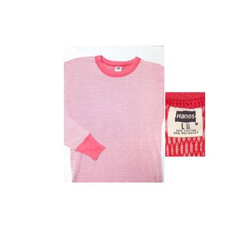 サンタモニカ(Santa Monica)の▪70's【HANES】PINK THERMAL(Tシャツ/カットソー(七分/長袖))