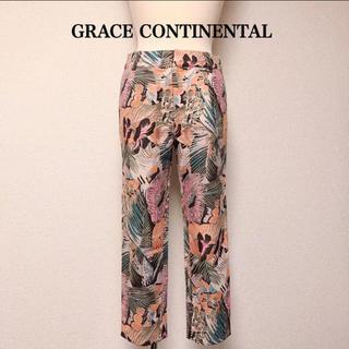 グレースコンチネンタル(GRACE CONTINENTAL)のGRACECONTINENTAL クロップドパンツ 柄 パンツ リゾート S(クロップドパンツ)