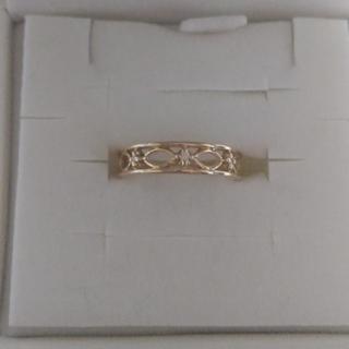 ヴァンドームアオヤマ(Vendome Aoyama)のほぼ新品 3号 ヴァンドーム青山 K18 透かし ダイヤモンド ピンキー リング(リング(指輪))
