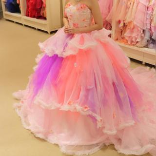 ココメロディ カラードレス ピンク ウエディングドレス(ウェディングドレス)