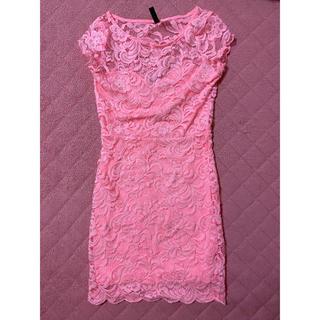 レース ピンク ナイト ドレス キャバ嬢 キャバクラ クラブ(ナイトドレス)