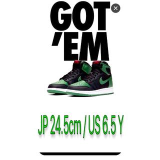 ナイキ(NIKE)の24.5cmNIKE AIR JORDAN 1 OG GS PINE GREEN(スニーカー)