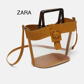 ZARA - ZARA ザラ 新品 ポーチ付き べっ甲ハンドル トート ショルダーバッグ