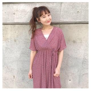 Kastane - カスタネ  カシュクール花柄ワンピース