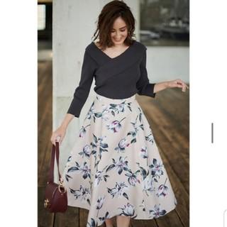 ジャスグリッティー(JUSGLITTY)の新品 ジャスグリッティー シックフラワー プリント スカート 花柄 ロング(ロングスカート)