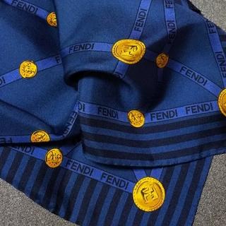FENDI - (USED) FENDI④ シルク ミニスカーフ ポケットチーフ メンズ レア