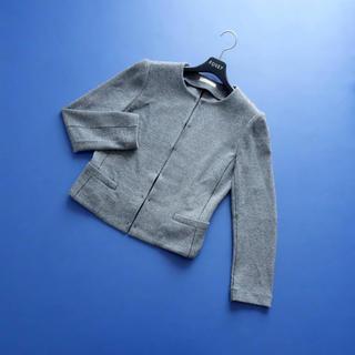 EPOCA - ■エポカ■ 40 黒白編み込み ニットジャケット EPOCA
