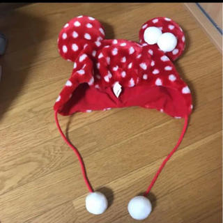 Disney - 東京ディズニーランド シー 帽子 ミニーちゃん 防寒 美品 耳あて ドット 水玉