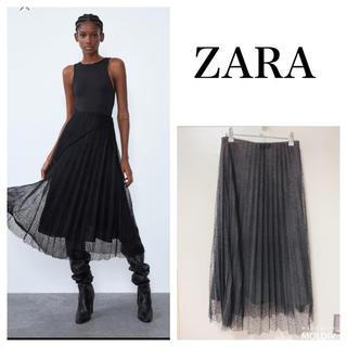 ZARA - ZARAプリーツスカート黒                      CLANE