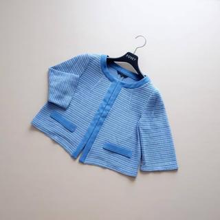 ANAYI - ■アナイ■ 38 ライトブルー 編み込みジャケット ANAYI